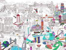 Load image into Gallery viewer, Giant Colouring Poster of Singapore