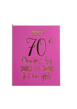 Load image into Gallery viewer, Happy 70th, May Your Day Sparkle and Shine!, Birthday Cards, That Card Company
