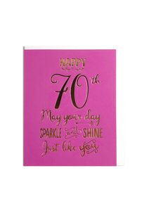 Happy 70th, May Your Day Sparkle and Shine!, Birthday Cards, That Card Company