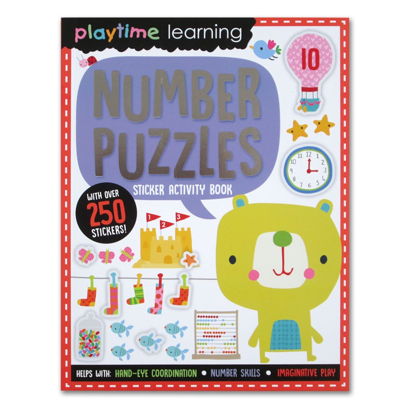 Number Puzzles Sticker Activity Book