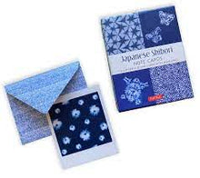 Load image into Gallery viewer, JAPANESE SHIBORI, 16 NOTE CARDS