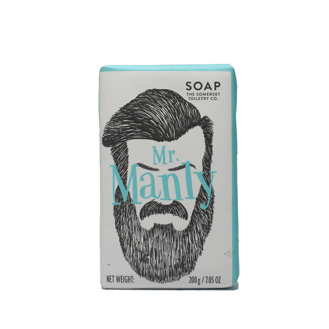 Mr Manly Sage Soap Bar 200g, Soap, The Somerset Toiletry Co.