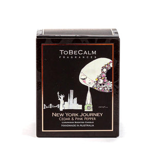 New York Journey - Cedar & Pink Pepper - Medium Soy Candle