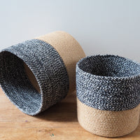 Two Toned Woven Basket