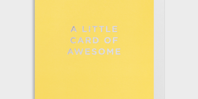 A little card of awesome