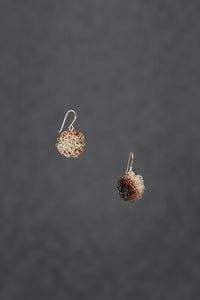 Oxidised  Sterling Silver Pom Pom Wire Earrings - Sofia Earrings