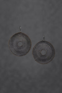 Black Round Large Earrings -  Beauty Earrings