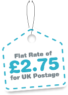 Flat rate of £2.75 on all UK postage