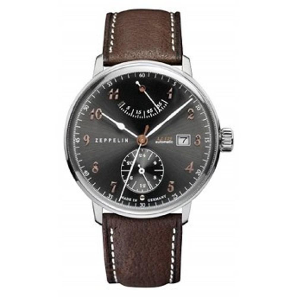 Zeppelin LZ129 Hindenburg Charcoal Gray Dial Brown Leather Band Mens Watch 7062-2 One color(ワンカラー)