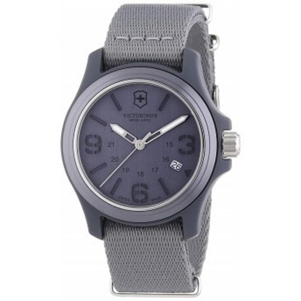 Victorinox Swiss Army Mens 241515 Original Grey Dial and Strap Watch Watch One color(ワンカラー)