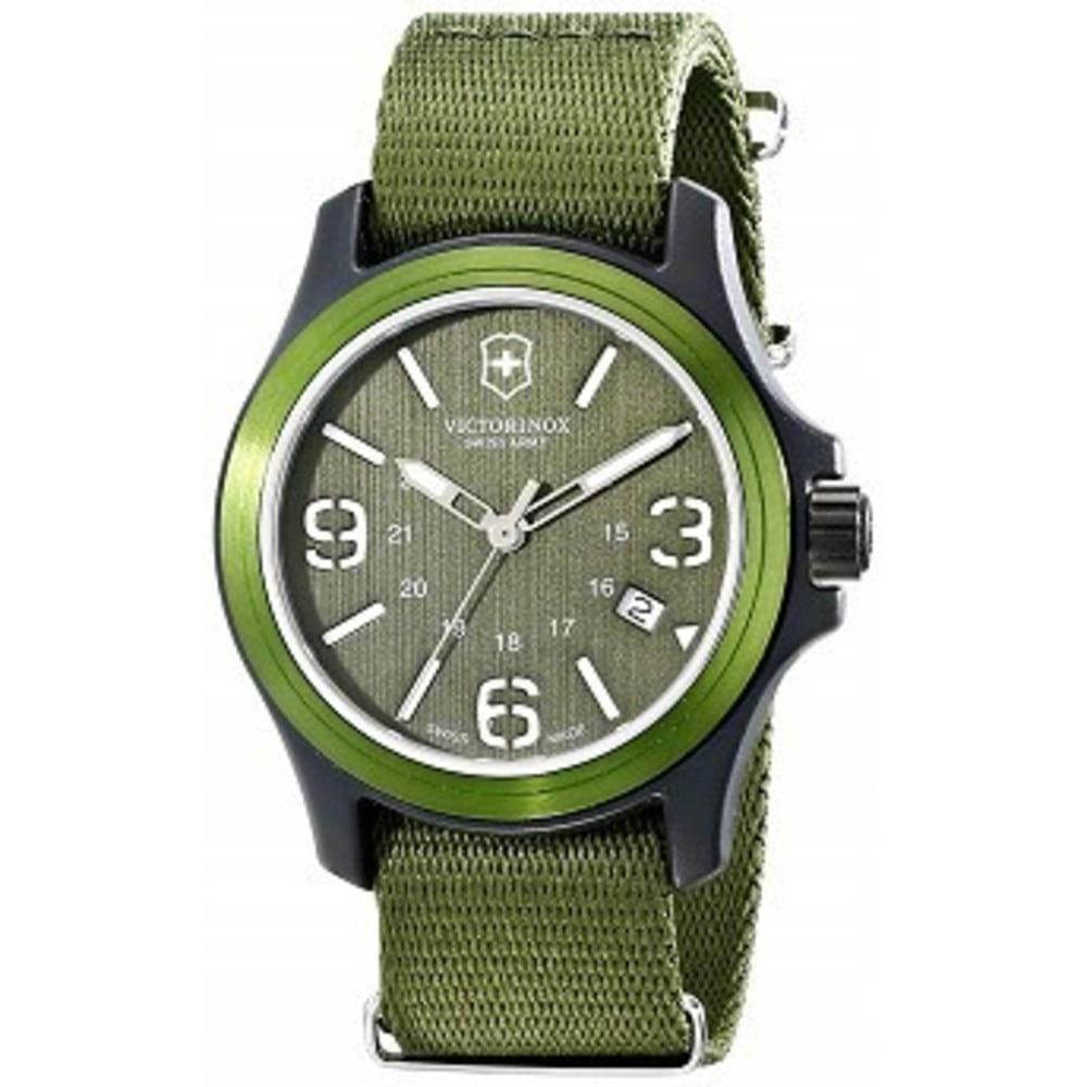 Victorinox Unisex 241514 Original Resin Watch With Green Nylon Band One color(ワンカラー)