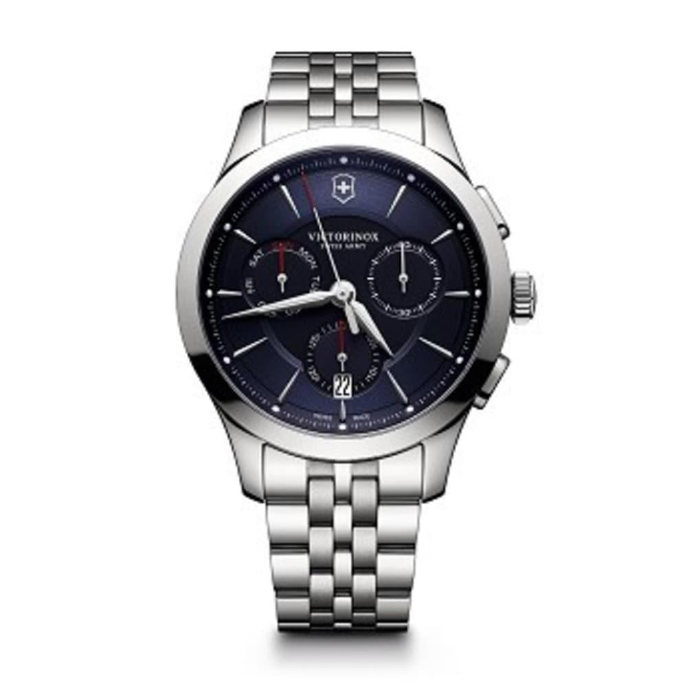 Victorinox Mens Alliance Swiss Quartz Stainless Steel Casual Watch, (Model: 241745) Blue Dial