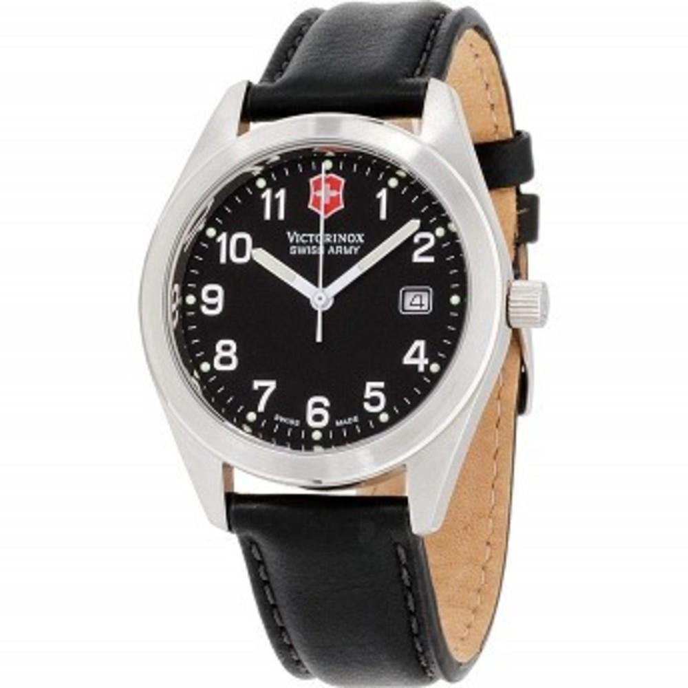 Victorinox Garrison Black Dial Leather Strap Mens Watch 241006CB One color(ワンカラー)