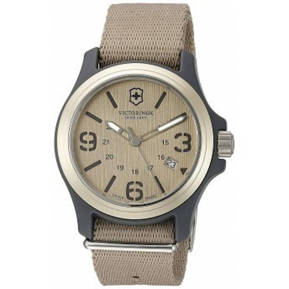 Victorinox Mens 241516 Original Analog Display Swiss Quartz Beige Watch One color(ワンカラー)