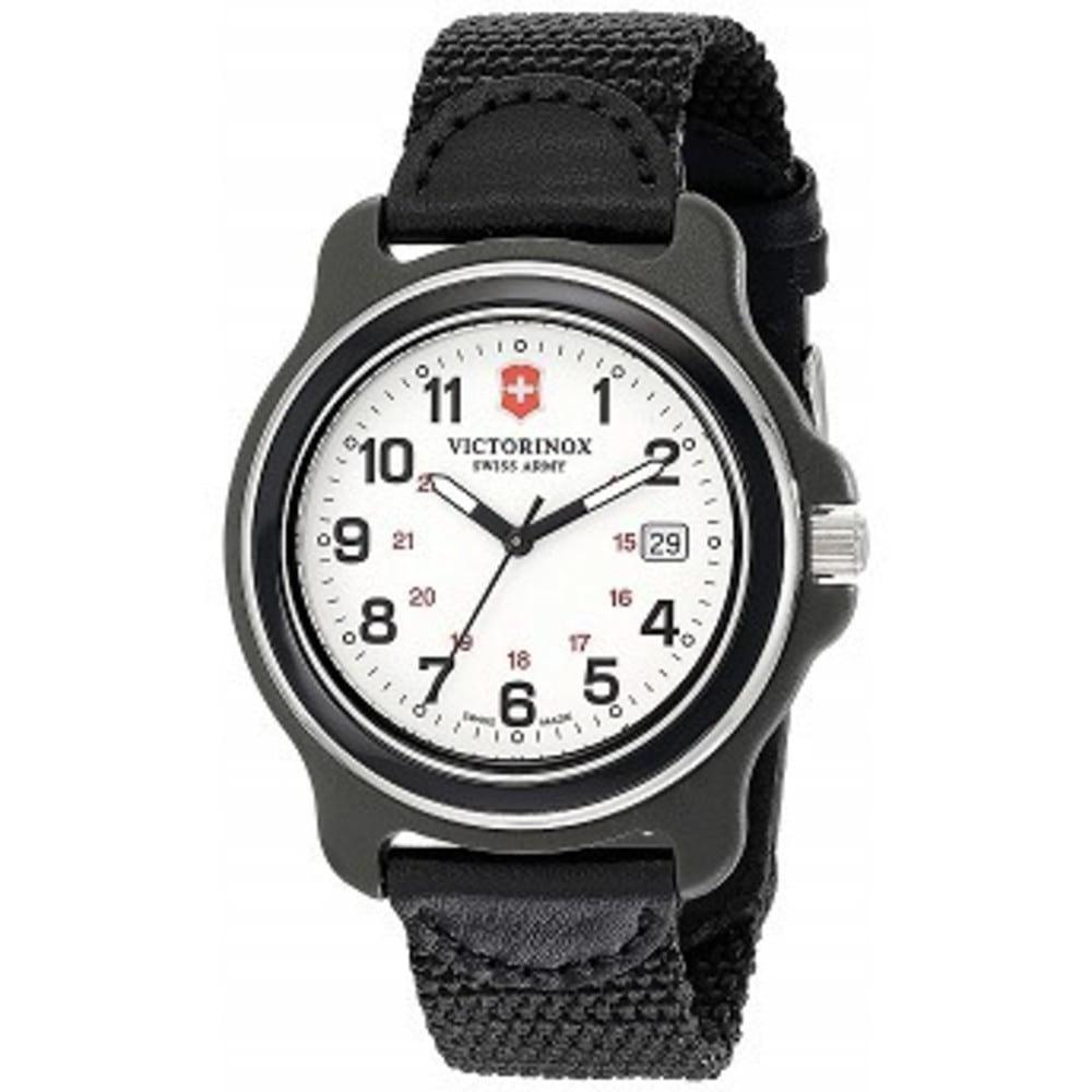 Victorinox Mens 249086 Original XL Analog Display Swiss Quartz Black Watch One color(ワンカラー)