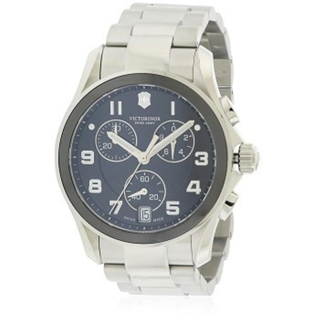 Victorinox Swiss Army Black Dial SS Chronograph Quartz Male Watch 241544 One color(ワンカラー)