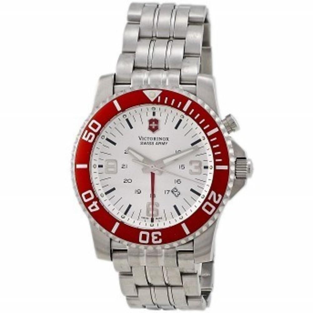 Victorinox Swiss Army Mens Maverick Swiss Quartz Stainless Steel Sport Watch, Color:Silver-Toned (Model: 24141 One color(ワンカラー)