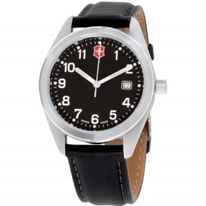 Victorinox Garrison Black Dial Leather Strap Mens Watch 26034CB One color(ワンカラー)