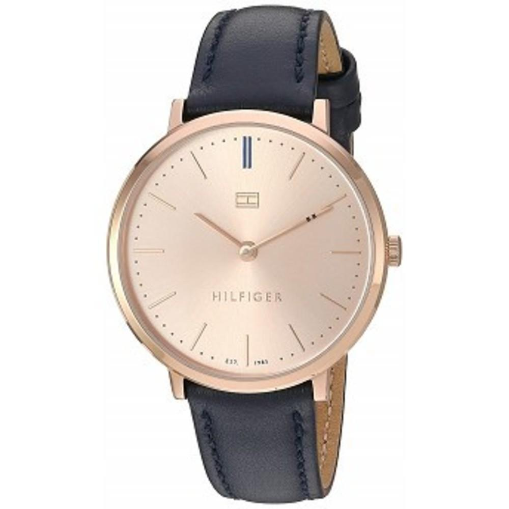 Tommy Hilfiger Womens Sophisticated Sport Quartz Gold and Leather Watch, Color Blue (Model: 1781693) One color(ワンカラー)