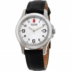 Victorinox Garrison Elegance Silver Dial Leather Strap Ladies Watch 241388CB One color(ワンカラー)
