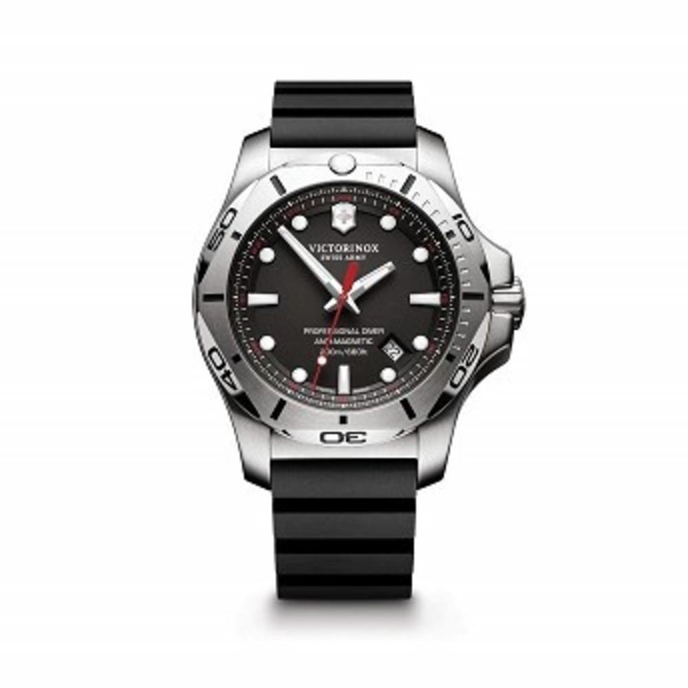 Victorinox Swiss Army Mens I.N.O.X. Swiss Quartz Stainless Steel Casual Watch Black I.N.O.X. Professional Diver