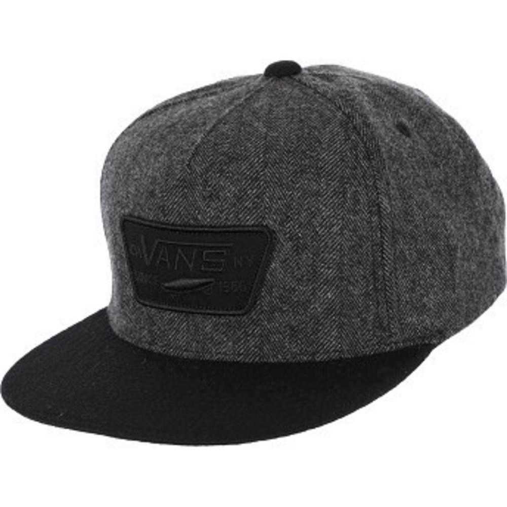 Full Patch Snapback Hat heather grey-black