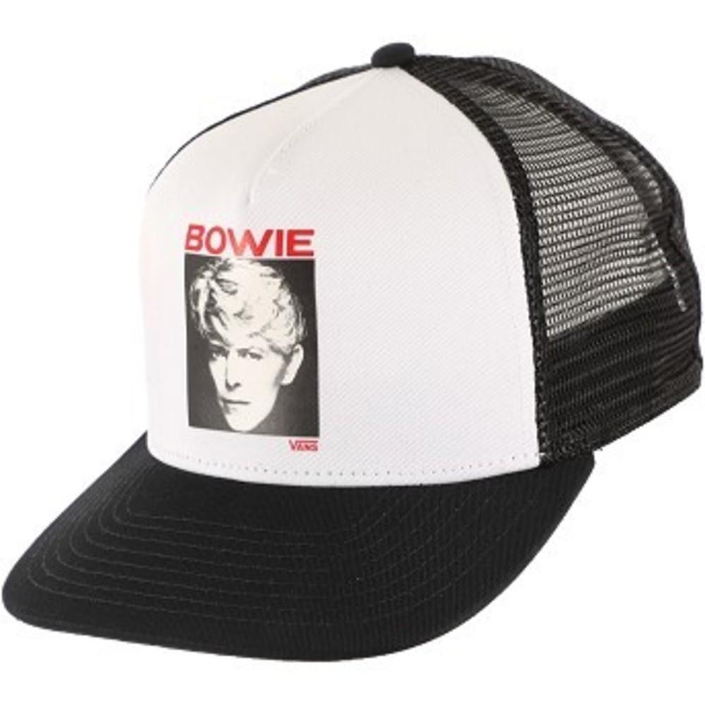 David Bowie Serious Moonlight Trucker Hat ホワイト×ブラック