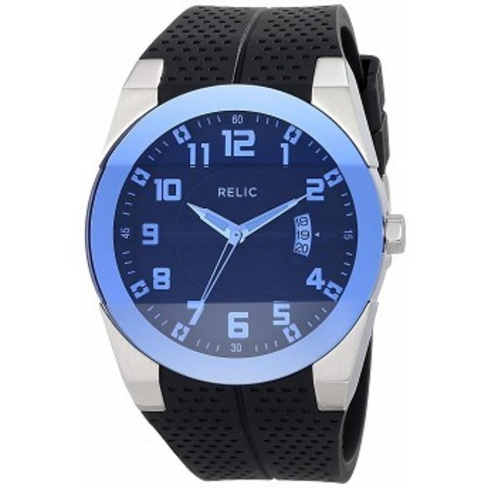 6pm腕時計 正規USモデル Relic by Fossil Mens Jake Quartz Stainless Steel and Silicone Sport Watch, Color: Silver, Black (Model: ZR11861)シルバーFREE - hotdealsjp