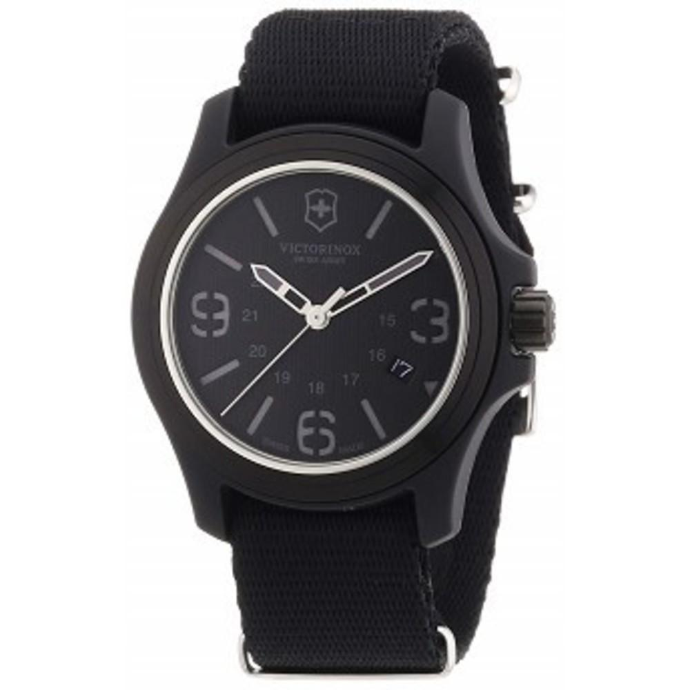 Victorinox Swiss Army Mens 241517 Original Black Dial and Strap Watch Watch One color(ワンカラー)