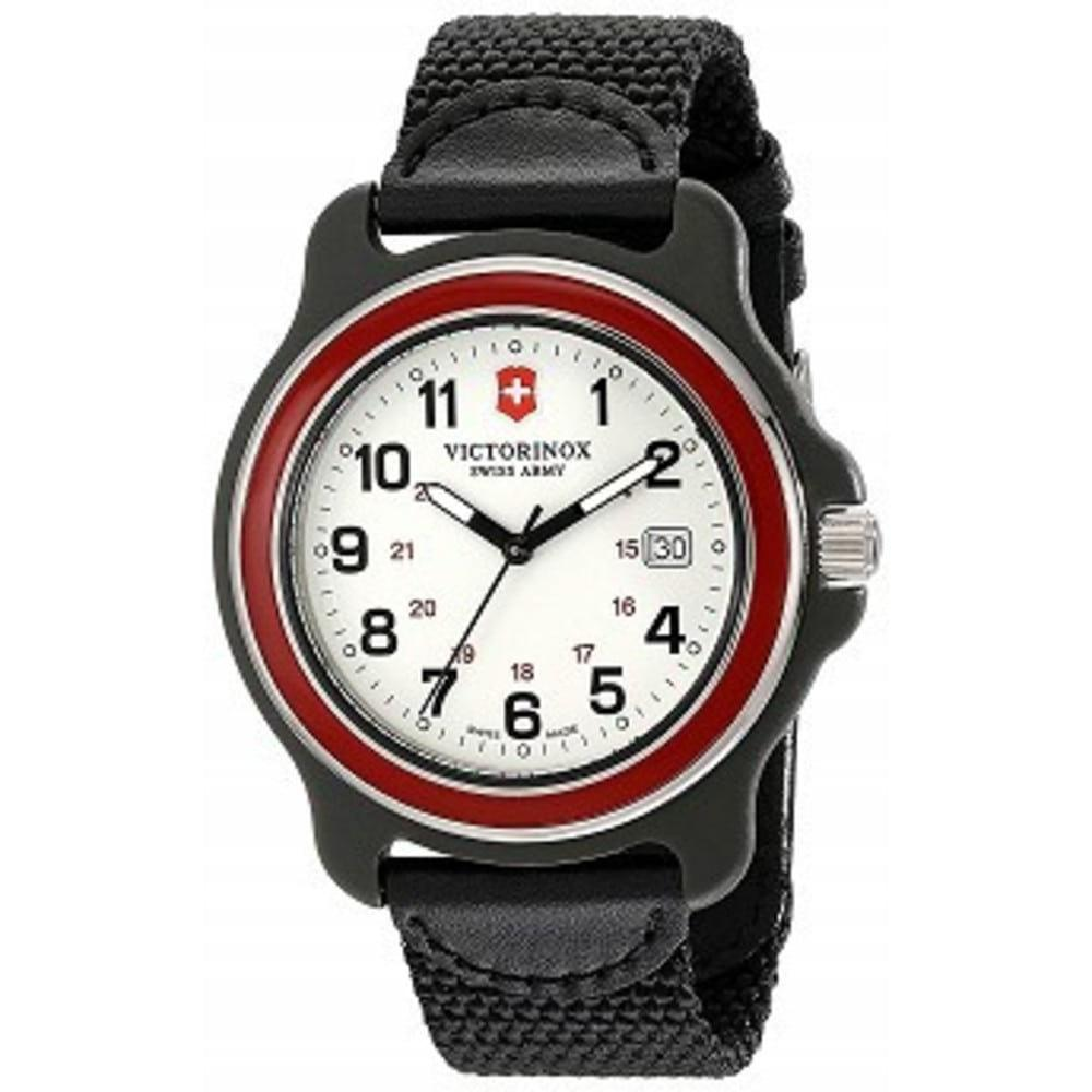 Victorinox Mens 249085 Original XL Swiss Quartz Watch With Black Nylon Band One color(ワンカラー)