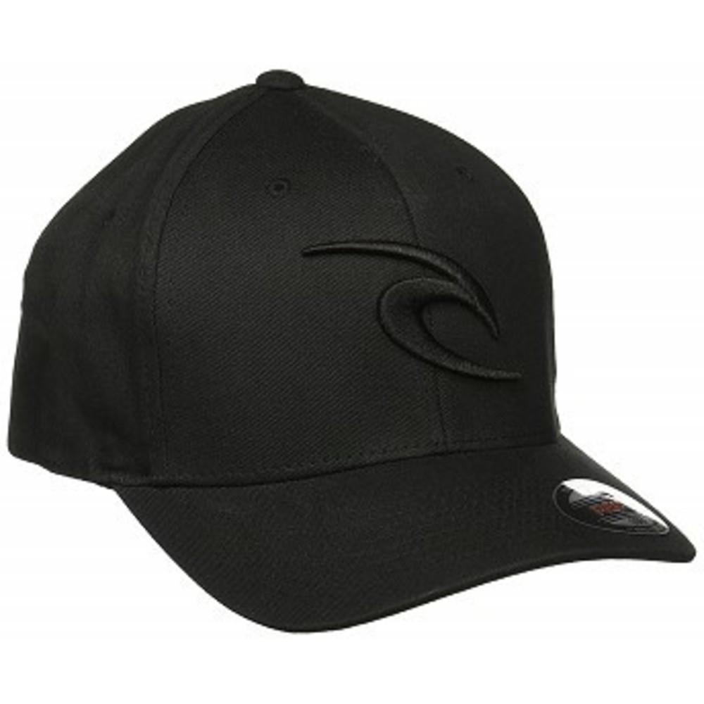 Rip Curl Mens Rc Icon Flexfit Hat ブラック-ブラック