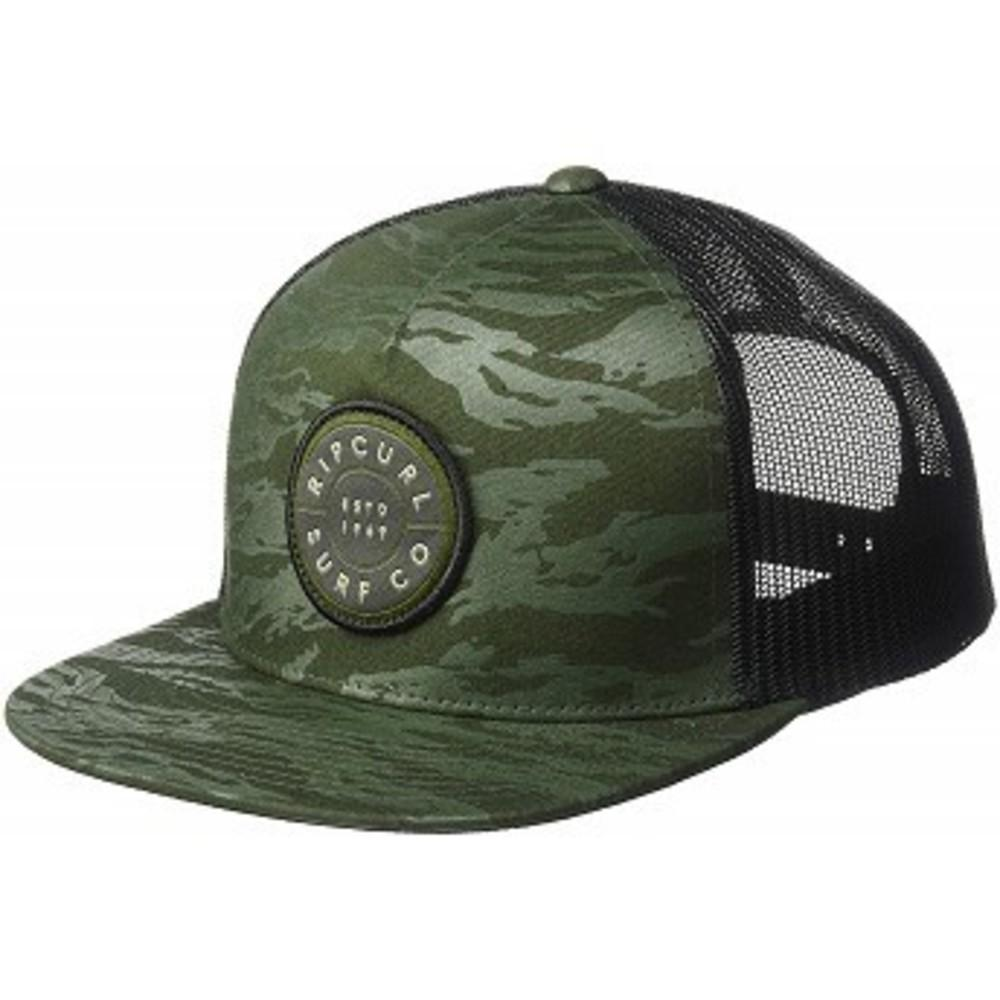 Rip Curl Mens Patch Trucker Mesh Hat Military Green