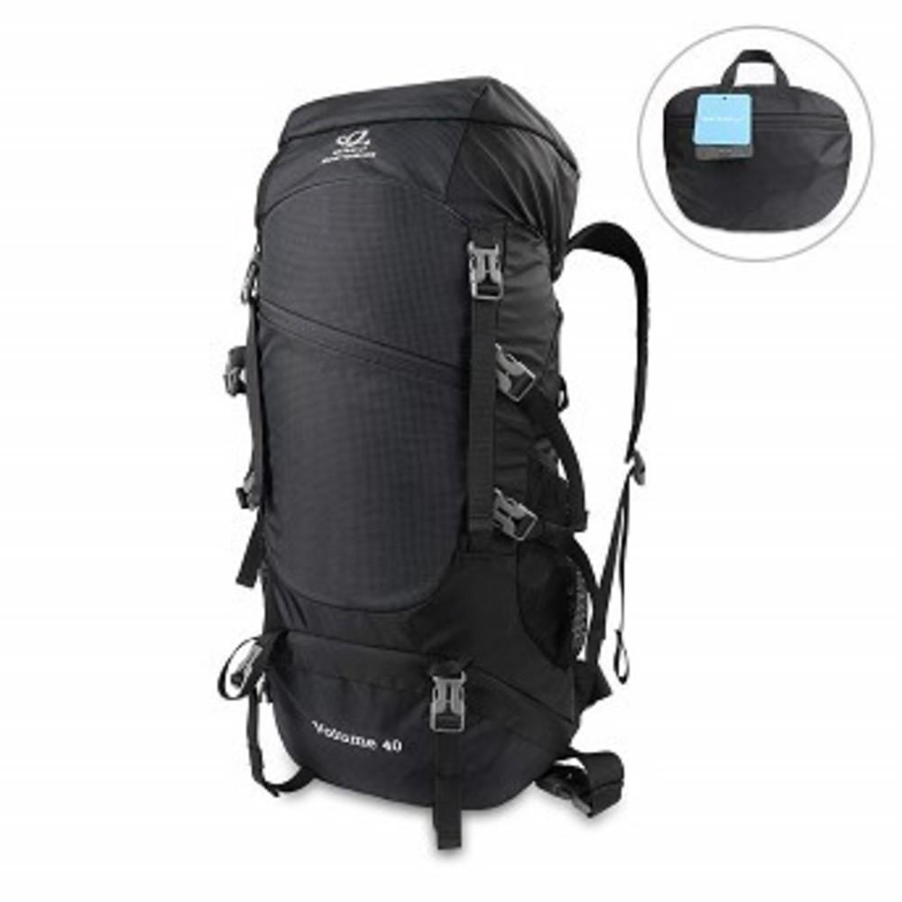 WATERFLY 40L Hiking Backpack Foldable Bag Portable Lightweight Hiking Daypack ブラック