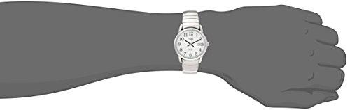 Timex Men's T2H451 Easy Reader 35mm Silver-Tone Stainless Steel Expansion Band Watch