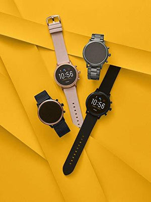 Fossil Gen 5 Carlyle HR Heart Rate Stainless Steel and Silicone Touchscreen Smartwatch, Color: Black (Model: FTW4025)