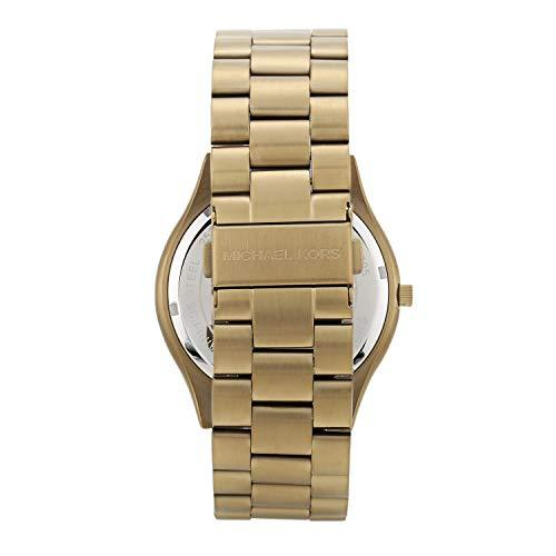 Michael Kors Men's Quartz Watch with Stainless Steel Strap, Gold, 22 (Model: MK8795)