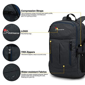 MOUNTAINTOP 28L Hiking Backpack for Outdoor Camping