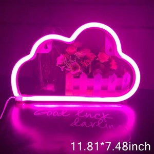 Dream LED Neon Light Sign Letters Neon Sign Panel Holiday Christmas Party Wedding Decorations Home Wall Decor Neon Lamp Gifts