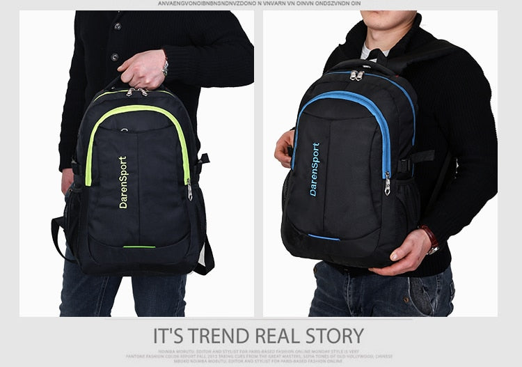 Travel Multifunction Bag Fashion Zipper Open Bag Men's Backpack Laptop High Quality Designer Male Backpacks Card Classic Bags