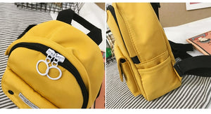 Girls school bags Canvas Multi-pockets backpack for teenagers Mini bagpack high school backpack student Small Shoulder bag