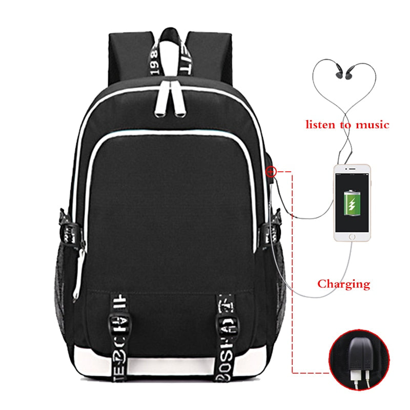 Customize Logo Image Link Backpack Women Men Multifunction USB Charging Laptop Backpack School Travel Bags for Boys Girls