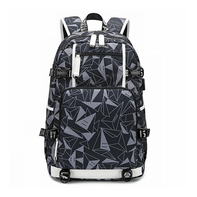 Waterproof Backpacks Oxford Printed USB Travel Backpack Students School Bags for women men Can Custom Logo Image Shoulder Bags