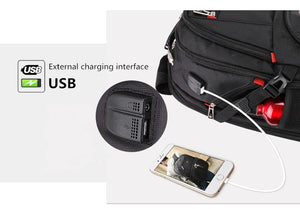 multifunction large capacity male bag fashion travel usb charging waterproof anti-theft 15.6 inch 17 inch laptop backpack men