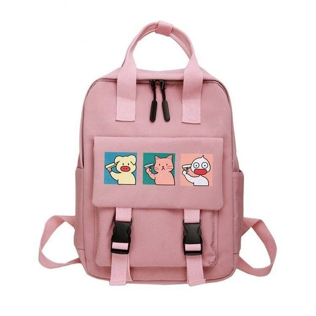 Cute School Backpacks Women Waterproof Backpack for Teenage Girl Nylon Lovely Cartoon Daily Travel Softback Mochila Escolar 2020