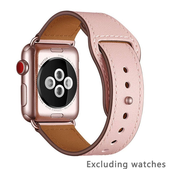 Strap for apple watch band 38MM 42MM 40MM 44MM Genuine leather watchband For iwatch 3/2/1 For Apple Watch 4/5 Watch Accessories