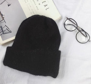 Autumn winter rabbit hair Winter skullies Hat fashion warm beanies hats casual women solid adult rabbit caps cover head