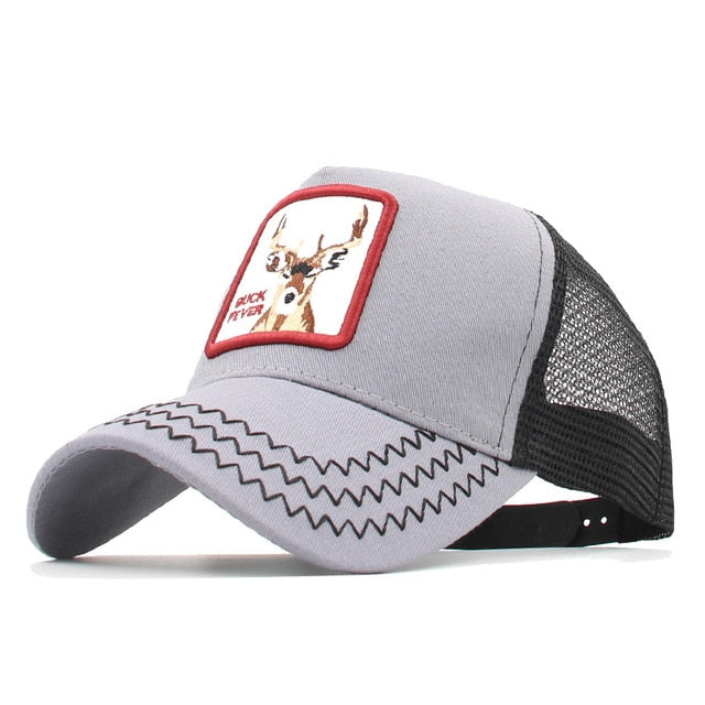 Fashion Animals Embroidery Baseball Caps Men Women Snapback Hip Hop Hat Summer Mesh hat Streetwear Bone gorra animales bordados
