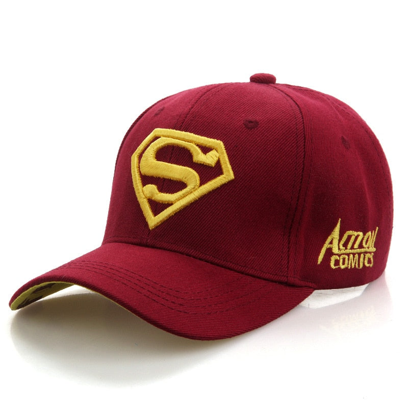 2020 New Letter Superman Cap Casual Outdoor Baseball Caps For Men Hats Women Snapback Caps For Adult Sun Hat Gorras wholesale