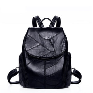 Women Backpack sheepskin Leather Backpack Women new fashion Hotsale School Bags for Teenagers Fashion Backpacks for Teenage Girl