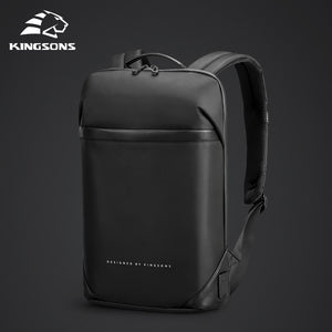 Kingsons Slim Laptop Backpack Men 15.6 inch Office Work Men Backpack Business Bag Unisex Black Ultralight Backpack Thin Mochila